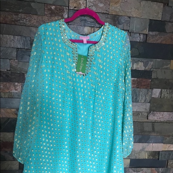 b321f38bc78 Lilly Pulitzer Dresses | Colby Silk Tunic Dress Size 10 Nwt | Poshmark